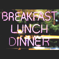 Breakfast, Lunch, and Dinner Neon Sign