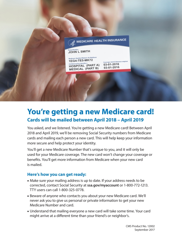You're getting a new Medicare card!