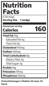 Quesadillas Nutrition Facts